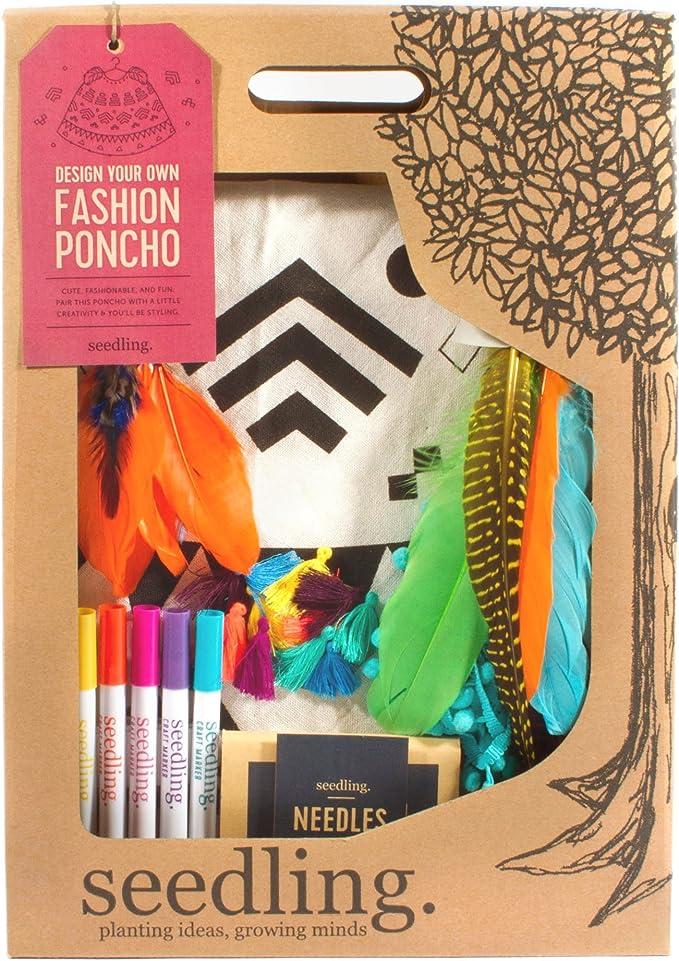 Seedling Design Your Own Fashion Poncho Activity Kit 16faspo Craft Kits Amazon Canada