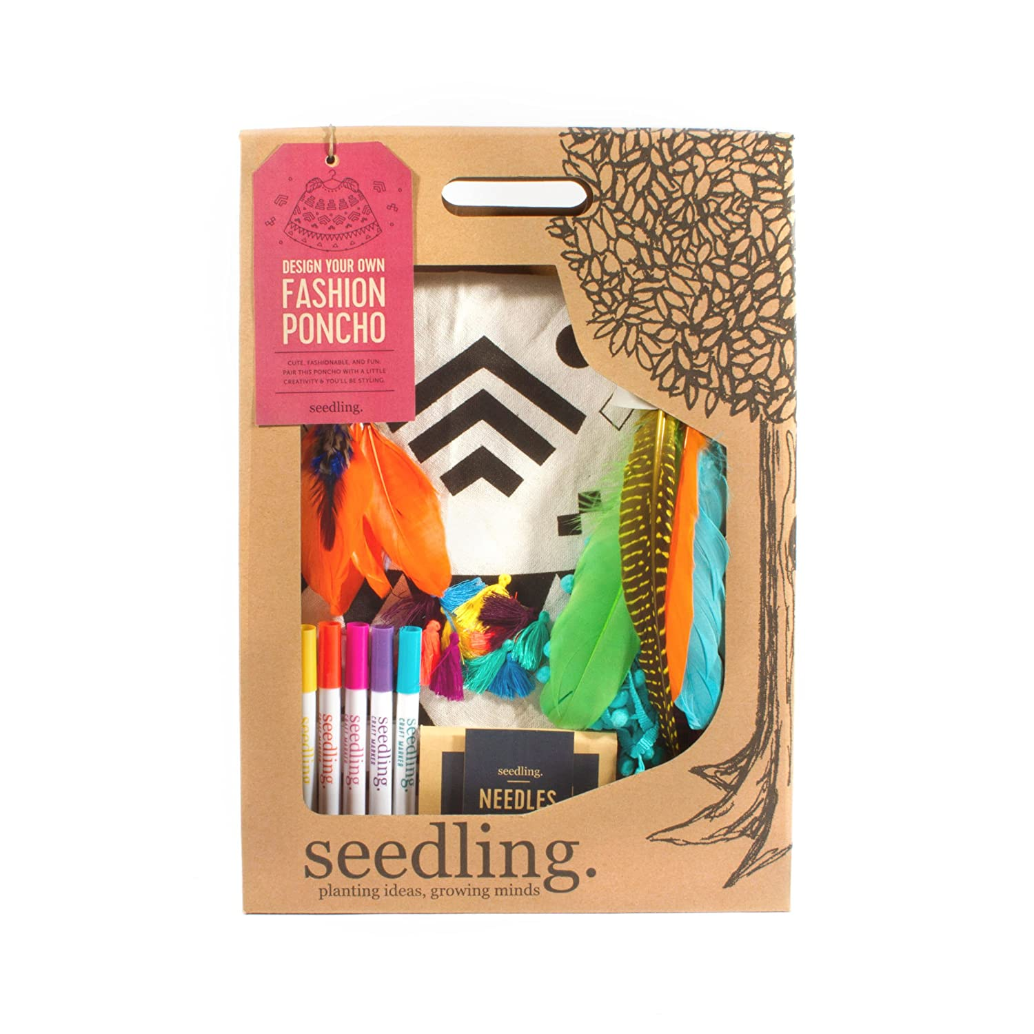 Buy Seedling Design Your Own Fashion Poncho Activity Kit By Seedling Usa Online At Low Prices In India Amazon In