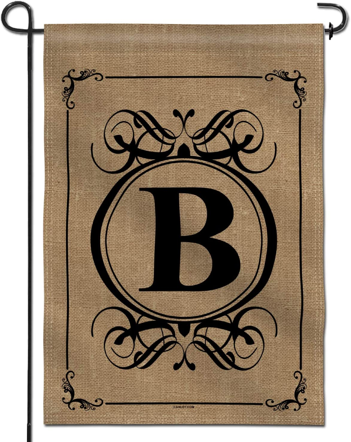 Anley Classic Monogram Letter B Garden Flag, Double Sided Family Last Name Initial Yard Flags - Personalized Welcome Home Decor - Weather Resistant & Double Stitched - 18 x 12.5 Inch