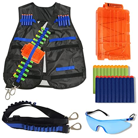 FullyLoaded Tactical Vest for kids for Nerf Guns N -Strike Elite Series.  Nerf Accessories