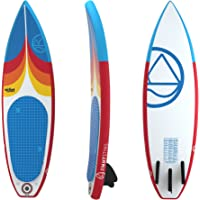 "Jimmy Styks AirSurf 6' Short Board | Surfboard | 6' Long, 20"" Wide, 3.2"" Thick Inflatable Surfboard - Red and Blue 