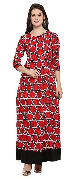 2d743c84b38f Royal Export Women s A-Line Midi Dress  Amazon.in  Clothing ...
