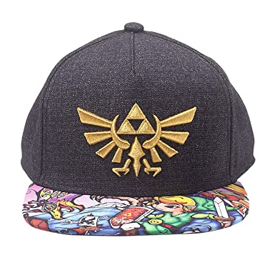 6cefe184ab384 Zelda Unisex Baseball Cap Nintendo Legend of Embroidered Gold Royal Crest  Snapback with Woods Boys Brim