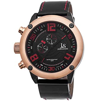 6147271374c Image Unavailable. Image not available for. Color  Joshua   Sons Men s  JS70RG Rose Gold Multifunction Swiss ...