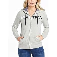 NAUTICA Women's Go-to Signature Cotton Full-Zip Logo Hoodie