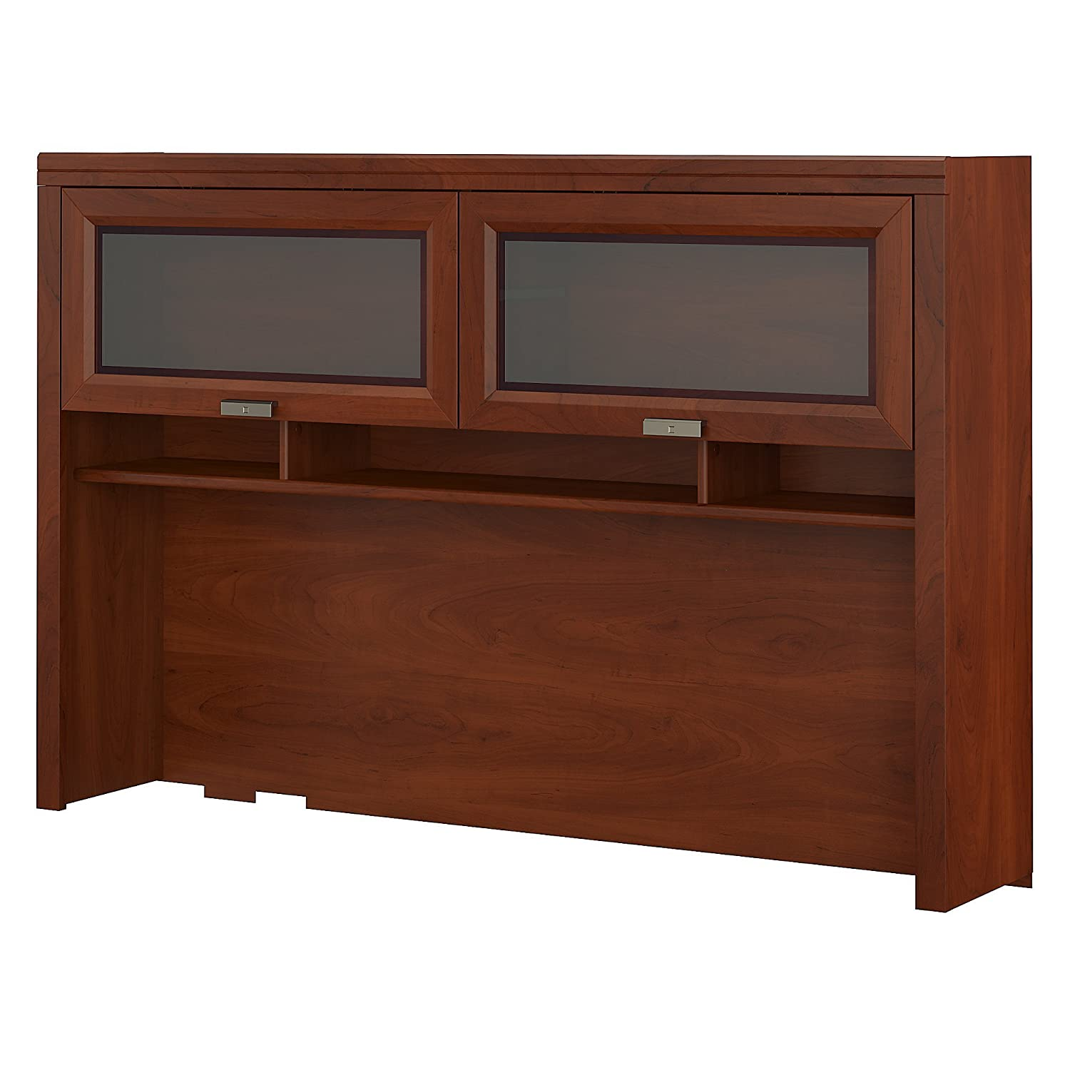Bush Furniture Tuxedo Hutch for L Shaped Desk in Hansen Cherry WC21431