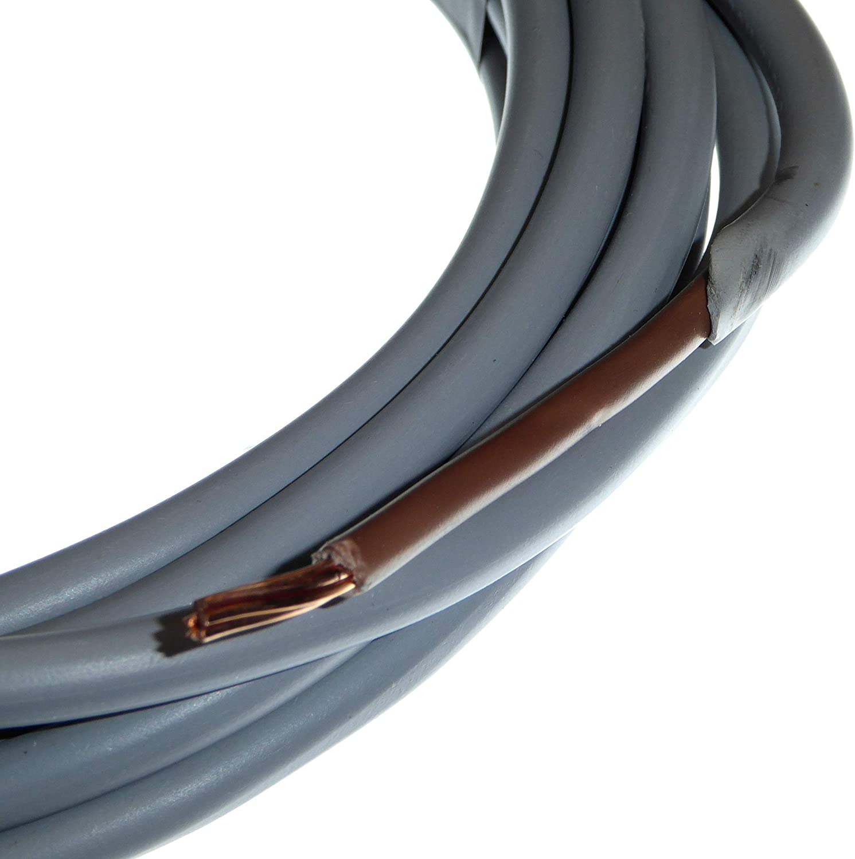 10 m, 6 mm 6181Y color gris y marr/ón Cable de cobre trenzado de PVC y PVC