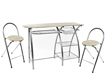 HTI-Line Küchenbar mit 2 Stühlen Lindsey Bartisch KüchentischNEU OVP ...