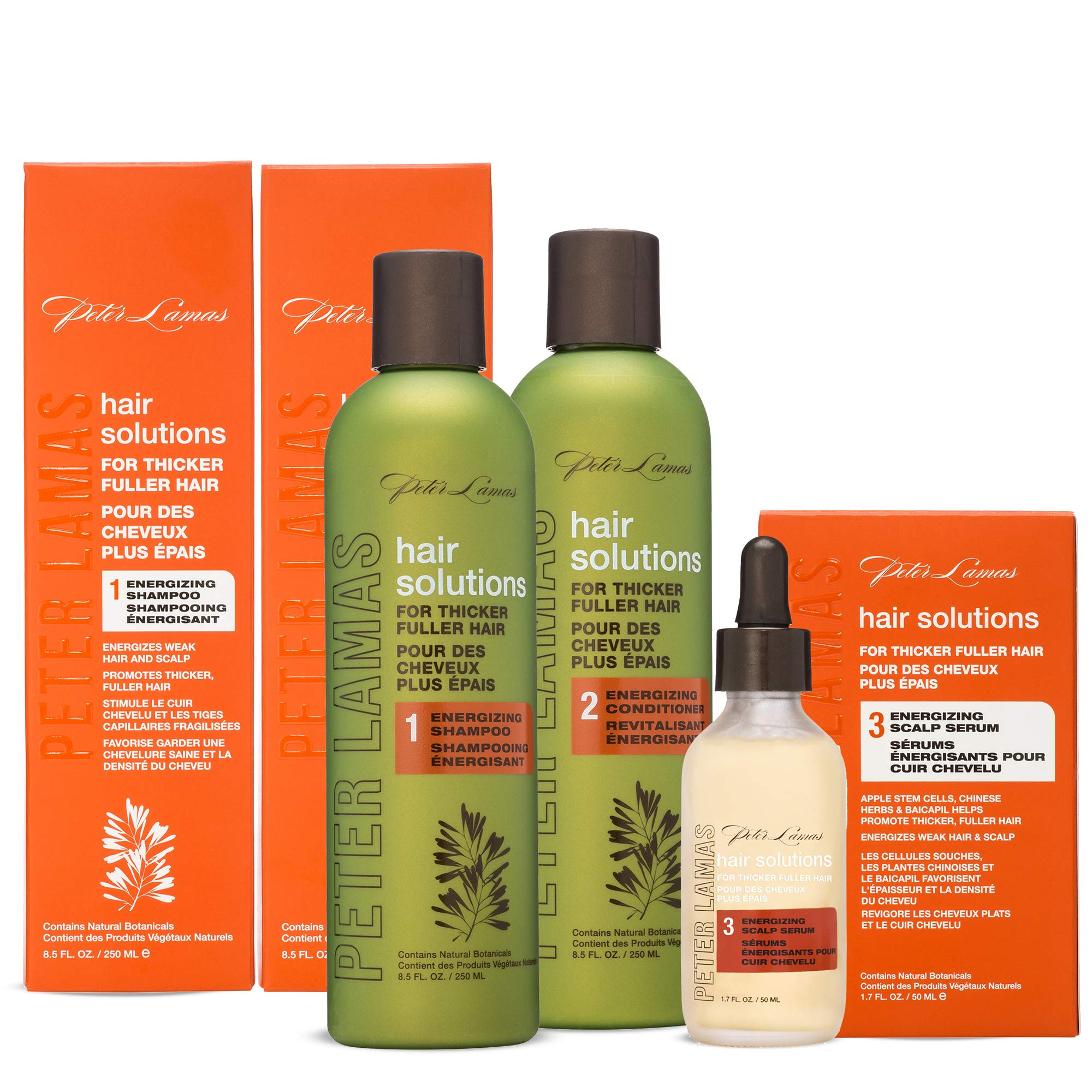 Peter Lamas Hair Solutions Energizing Shampoo, Conditioner & Serum Set, 3 Count by Peter Lamas