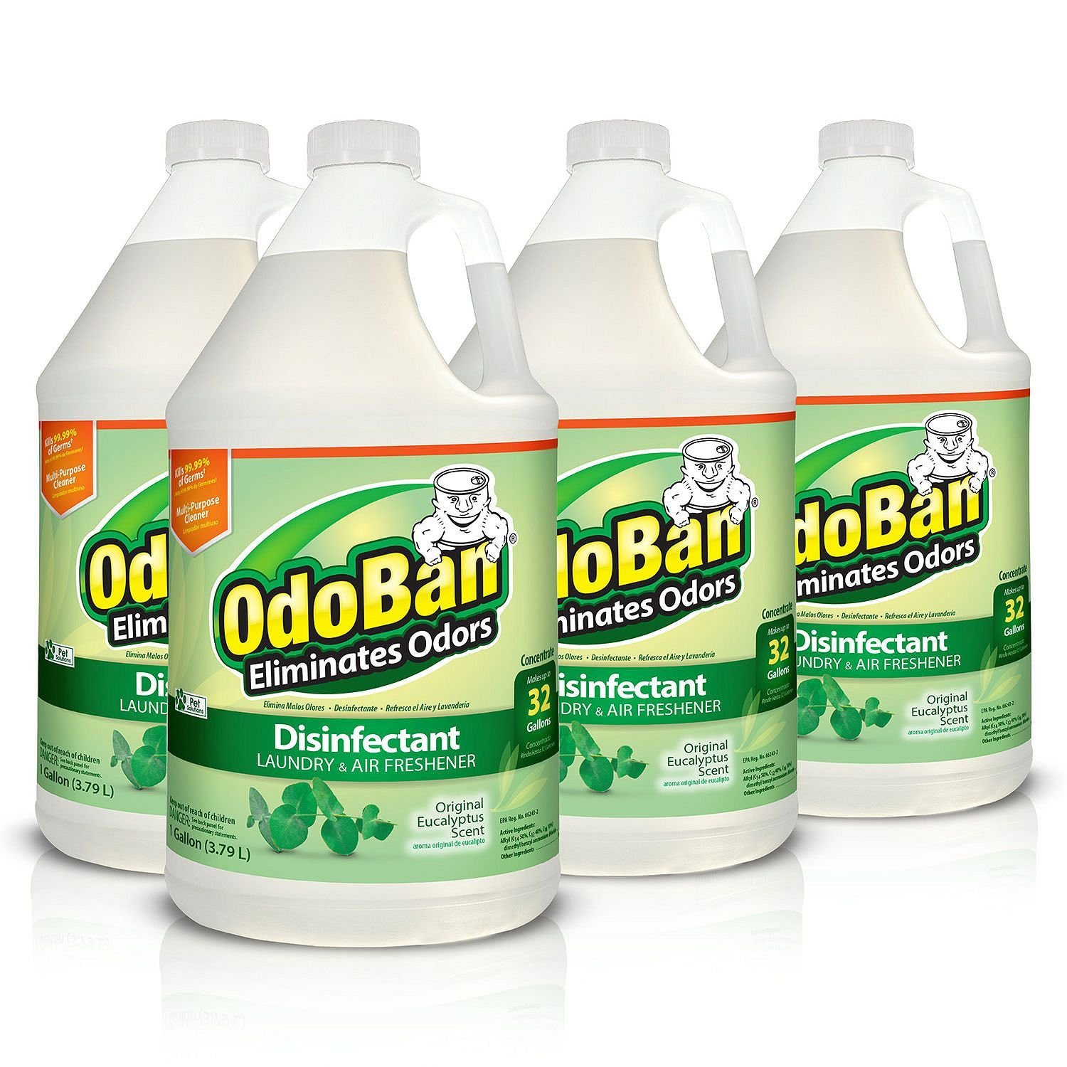 OdoBan Concentrate Disinfectant Laundry and Air Freshener Eucalyptus Scent 4 Gallons by OdoBan (Image #1)