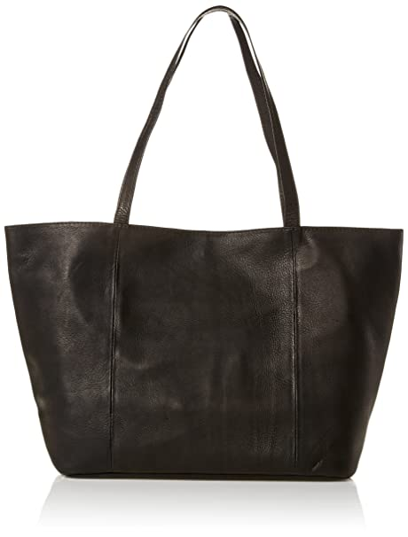 Piel Leather Tote, Black, One Size