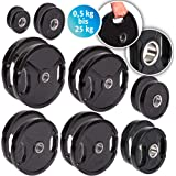 Discos para pesas de hierro fundido de C.P. Sports, 1 par o 2 pares de