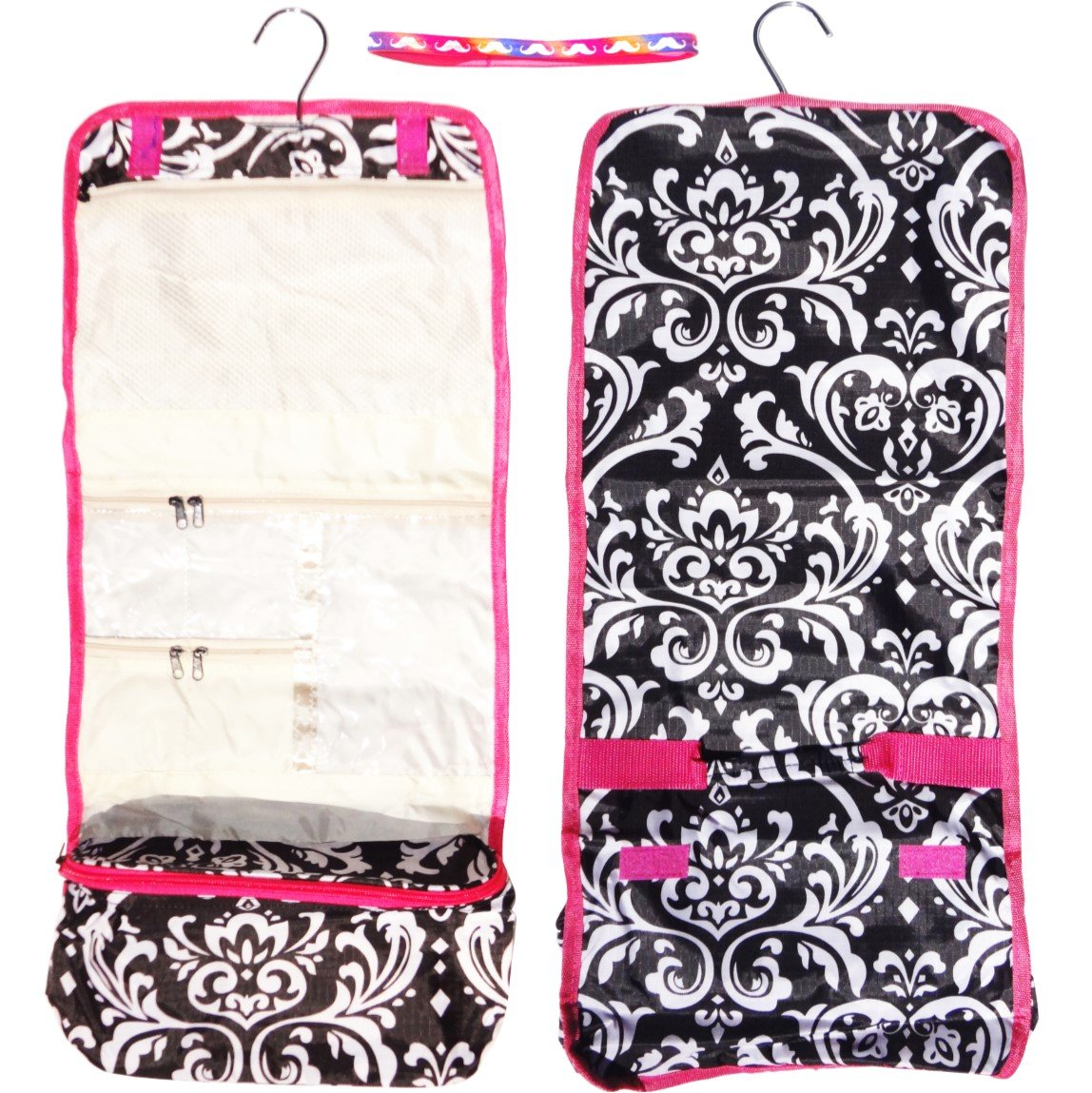 amazon com best selling damask hanging toiletries cosmetic