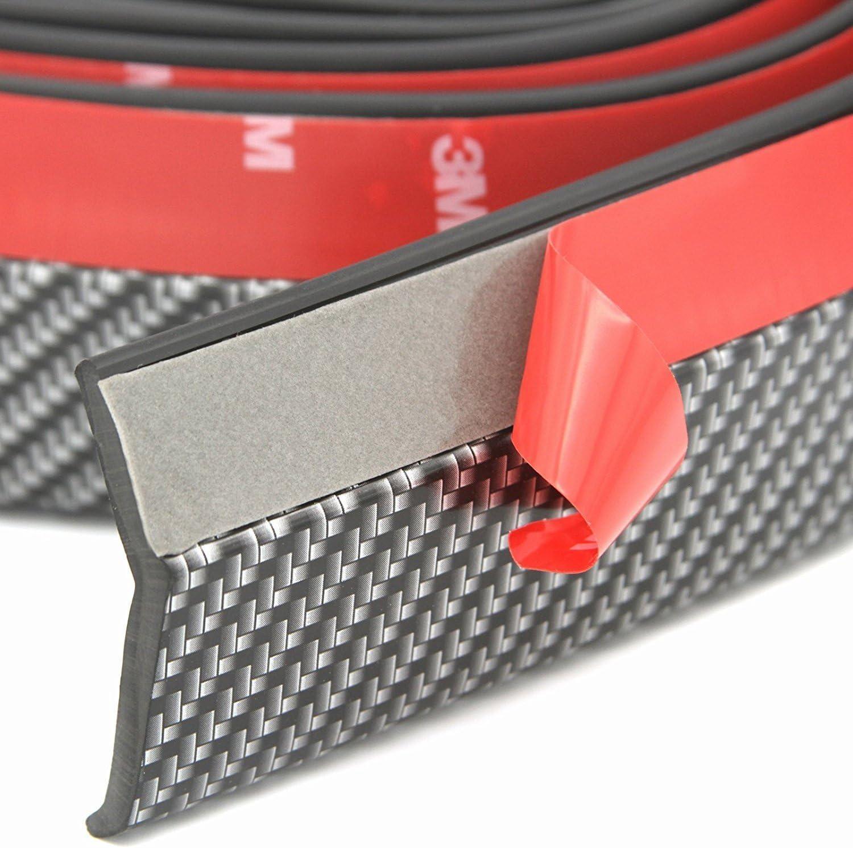 Orbeor Anti-Scratch Kohlefaser Gummi Rock Protector Lip f/ür Auto//Lkw//SUV 9.8//2.5M Universal Frontsto/ßstange Spoiler Schwarz
