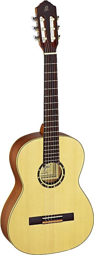 Ortega R121-7/8 - Guitarra clásica, abeto y caoba, tamaño 7/8 ...
