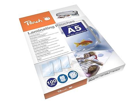 Peach PP500-03 Bolsas de plastificar, A5, 100 micras, 100 ...