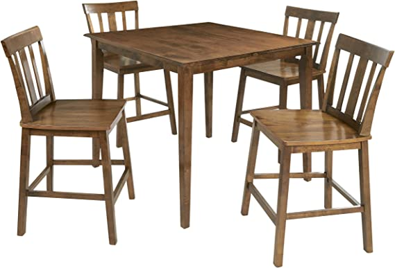 Mainstays 5 Piece Mission Style Dining Set Cherry Table Chair Sets
