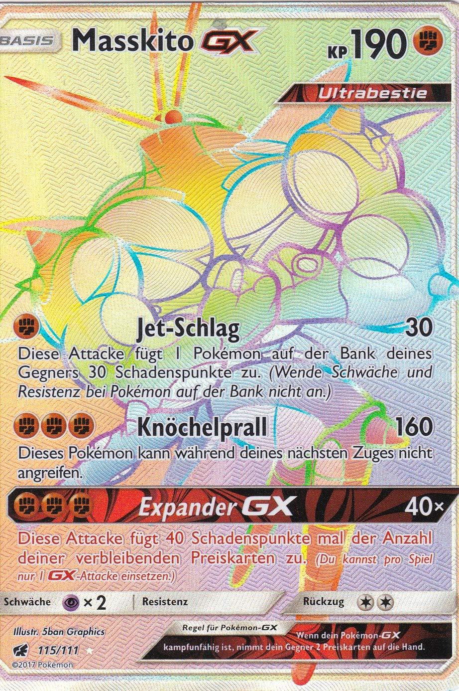 115 111 - Masskito GX - Secret Rare - Pokemon - Deutsch - Aufziehen der Sturmröte