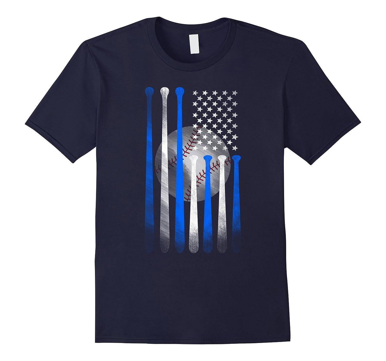 American Flag Vintage Baseball Flag T-Shirt, Dad, Mom, Kid T-Art