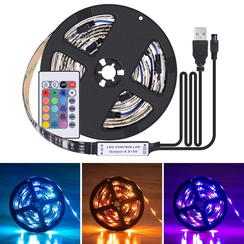 Amazon.com: USB TV Backlight Strip,UNPAD Waterproof Bias Tape Lighting Lights Kit 6.4ft (4x50CM) with Remote Control Multi-Color 5050 RGB: Home Improvement