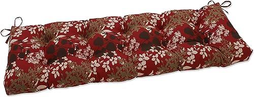 Deal of the week: Pillow Perfect Outdoor/Indoor Montifleuri Sangria Tufted Bench/Swing Cushion