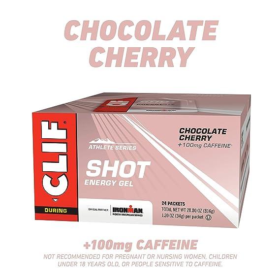 Clifbar Clif Shot Energy Gel - 24 Paquete de chocolate de la cereza-Turbo, un tamaño: Amazon.es: Deportes y aire libre