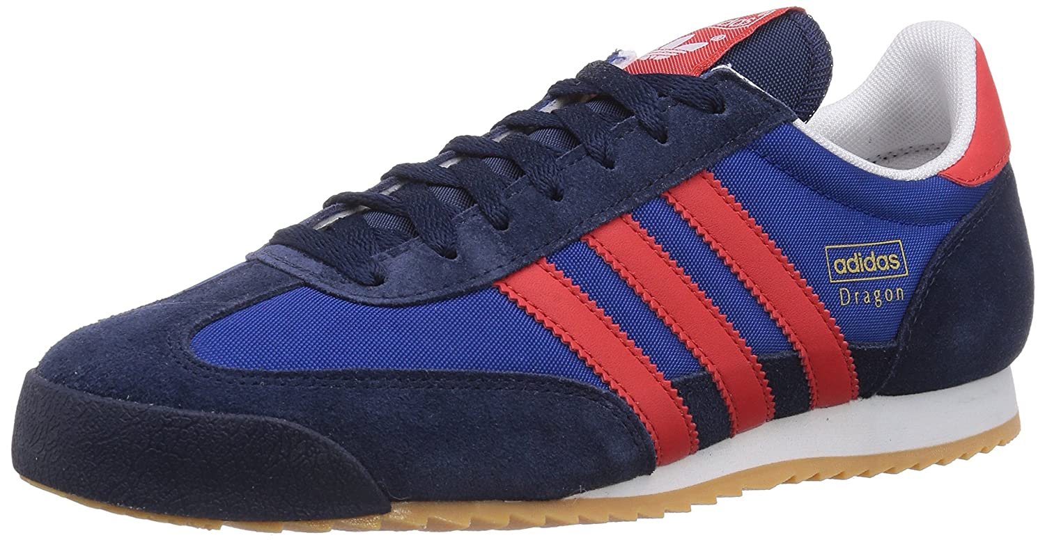 adidas dragon shoes blue and red