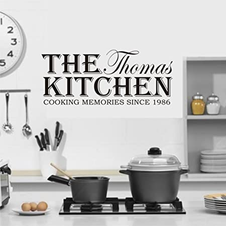 (LARGE) PERSONALISED NAME U0026 DATE COOKING MEMORIES SINCE KITCHEN WALL ART  VINYL DECAL STICKER