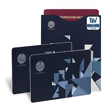 Tarjetas De Bloqueo RFID Y 2 Fundas De Pasaporte De Regalo, con Certificación Alemana (TUV) ...