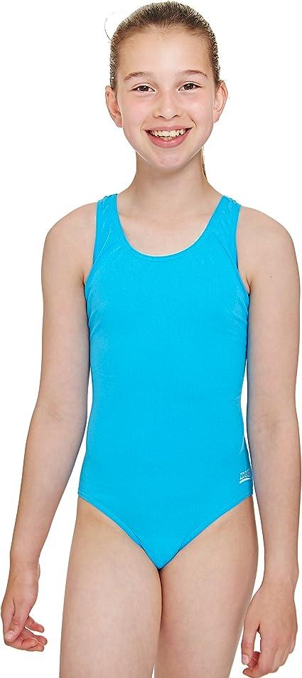 BNWOT Age 8 Zoggs Girls Black Cottesloe Sportsback Swimming Costume RRP £18