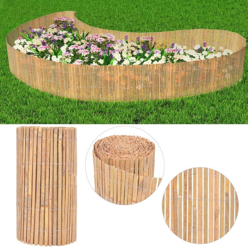 Tuduo Valla de jardín de bambú (Fendu 1000 x 50 cm Kit Vallas ...