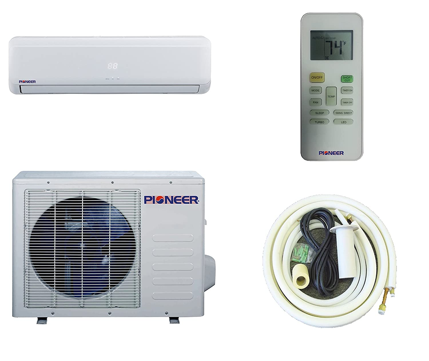 #716F45 Pioneer Ductless Wall Mount Mini Split INVERTER Air  2017 14552 Wall Mounted Ductless Air Conditioner photo with 1500x1261 px on helpvideos.info - Air Conditioners, Air Coolers and more