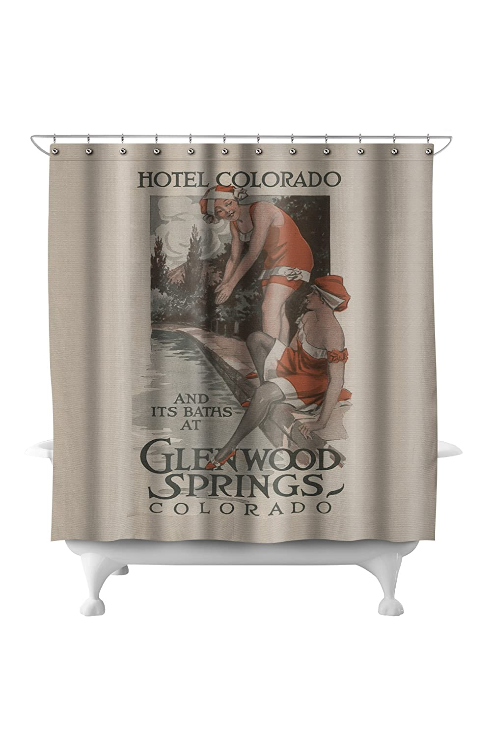 Amazon.com: Glenwood Springs, Colorado - Hotel Colorado and Baths Poster (71x74 Polyester Shower Curtain): Home & Kitchen