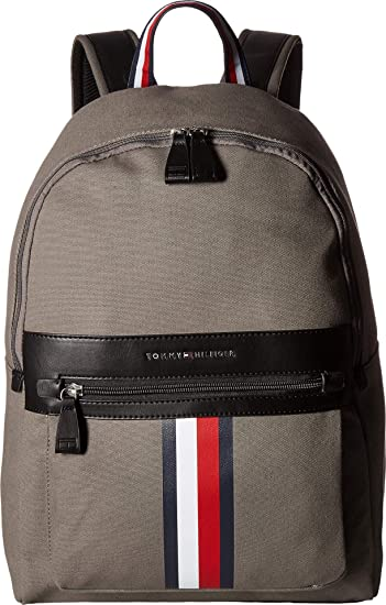 b038315a1 Amazon.com | Tommy Hilfiger Men's Icon Backpack Canvas Castlerock One Size  | Casual Daypacks