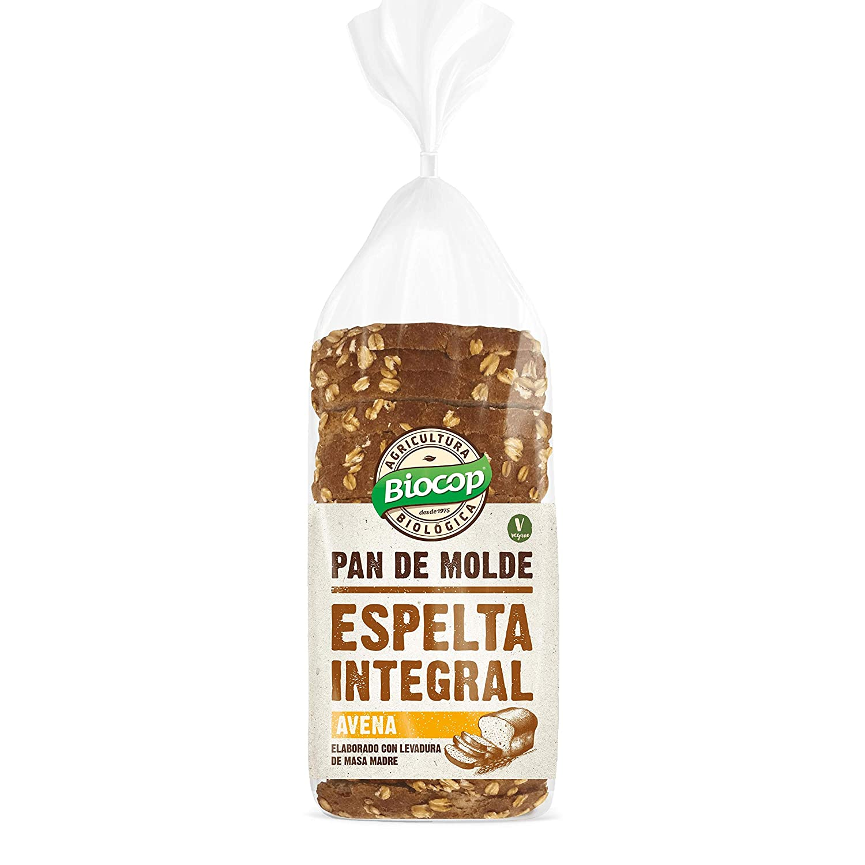 Pan de molde Espelta Integral y Avena Biocop, 400 g: Amazon.es ...