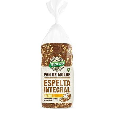 Pan de molde Espelta Integral y Avena Biocop, 400 g: Amazon ...