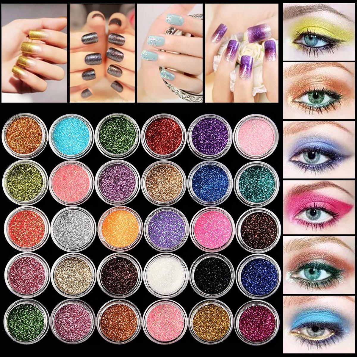 30 Colori Ombretti, LuckyFine Naturali Professionali Ombretti Cosmetico Tavolozza per Trucco Occhi Colore Causale