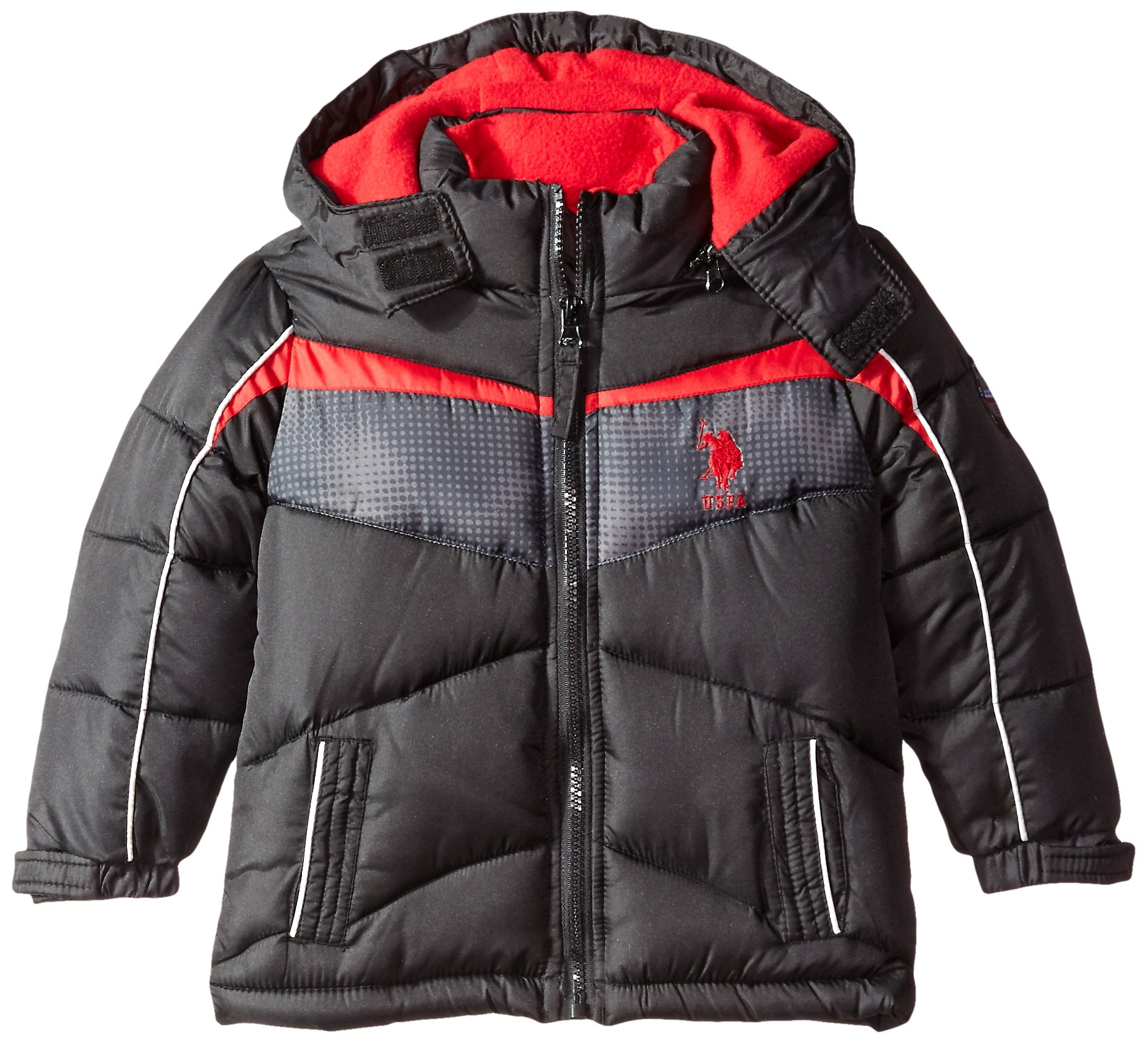 U.S. Polo Assn. Boys' Bubble Jacket (More Styles Available), Smooth Black, 2T