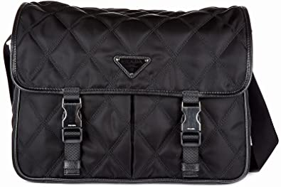 0324d4618fd157 spain prada logo quilted shoulder bag bcbcc d54db; low cost prada quilted  nylon messenger black b8281 eee01