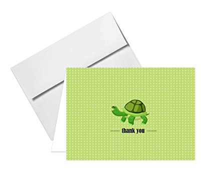 amazon com lovely animal thank you note greeting cards size 4 x