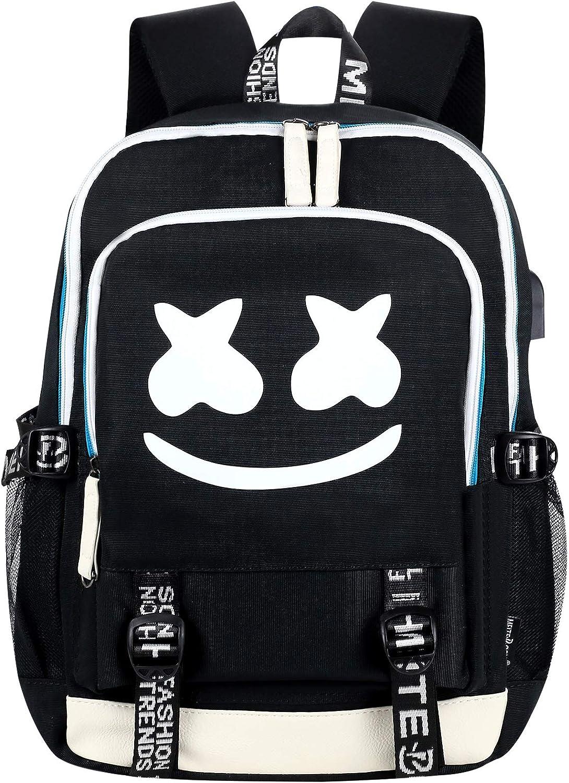 Hey Yoo Cute luminous Travel Laptop Backpack Waterproof School Bag Backpack