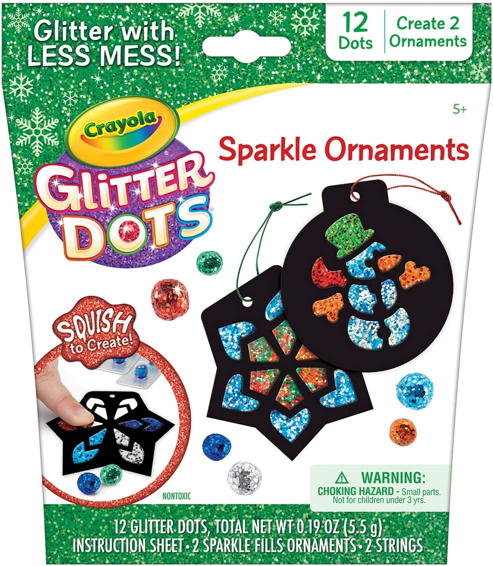 8 Gift for Kids Crayola Glitter Dots DIY Holiday Ornaments 6 Multi Glitter Craft Kit 5 7