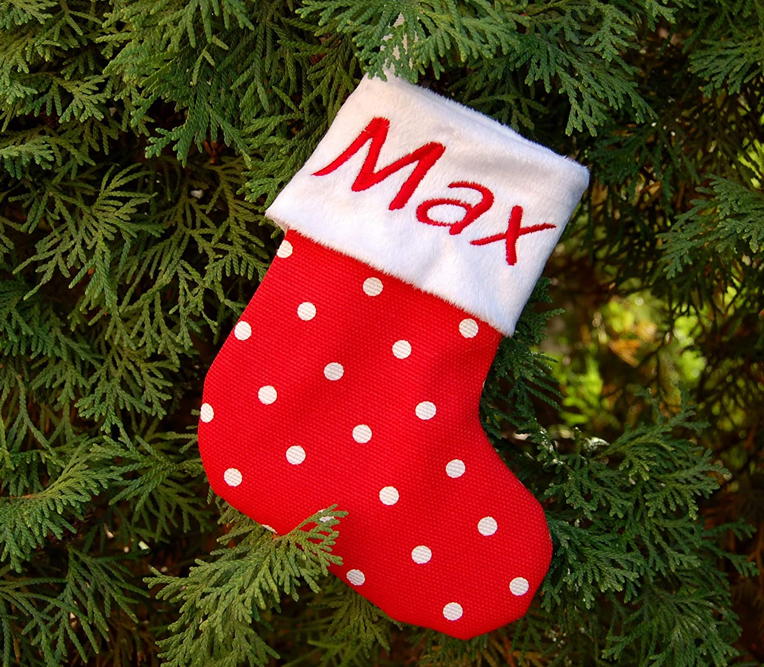 Personalized Mini Christmas Stockings Custom Embroidered