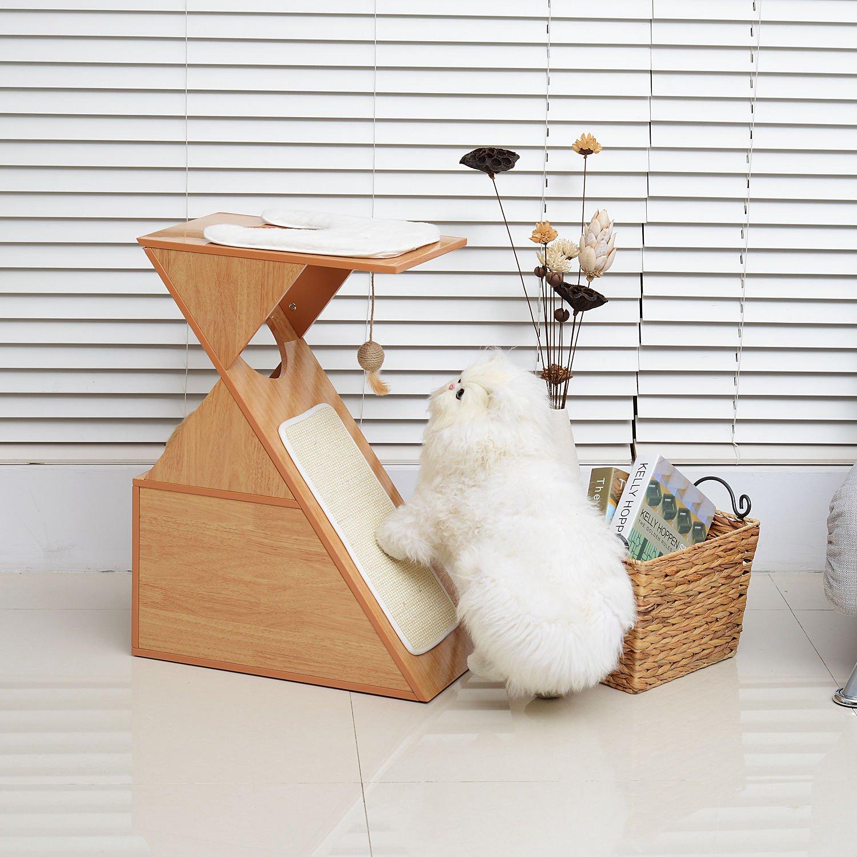 Hot Sale! 28'' Cat Scratcher Furniture Tree Kitten Condo Perch Pet Play Toy House w/Cushion