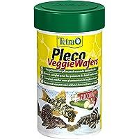 Tetra Pleco Veggie Wafers (hoofdvoer voor plantenetende bodemvissen, compleet voer met minerale rijke courgettes voor…