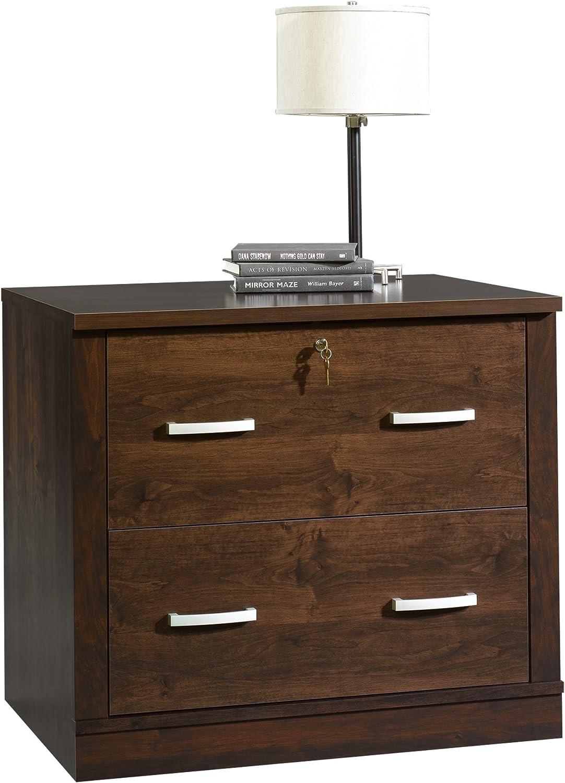 Sauder Office Port File Cabinet, Dark Alder finish