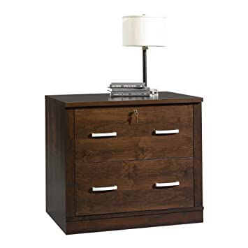 Amazon.com : Sauder 408293 Office Port File Cabinet, Dark Alder ...