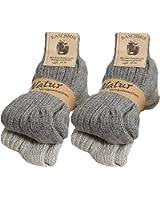 Brubaker - Lote de 4 pares de calcetines cálidos unisex, de alta calidad, con 48% de lana de oveja y…