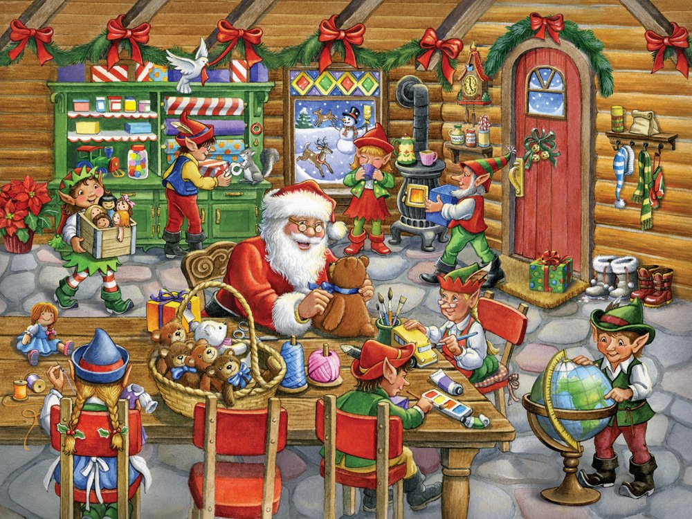 Santa's Workshop Jigsaw Puzzle 550 Piece