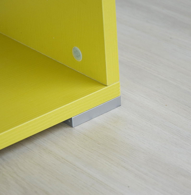 Mobiletto soggiorno con piedini Ares P Mobiletto design componibile Made in Italy Bianco